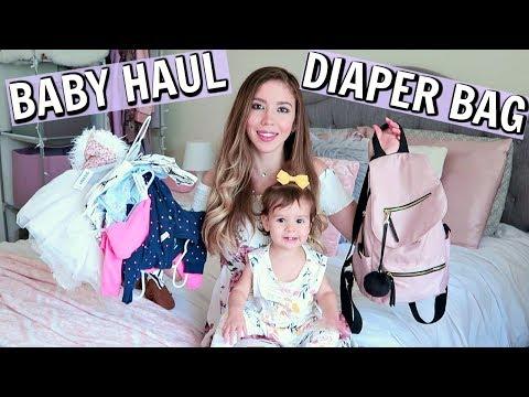 WHAT'S IN MY DIAPER BAG + BABY GIRL HAUL!