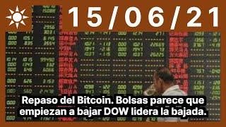 Repaso del Bitcoin. Bolsas parece que empiezan a bajar DOW lidera la bajada.