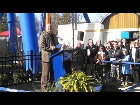 Don Helbig introduces Banshee at Kings Island, April 2014
