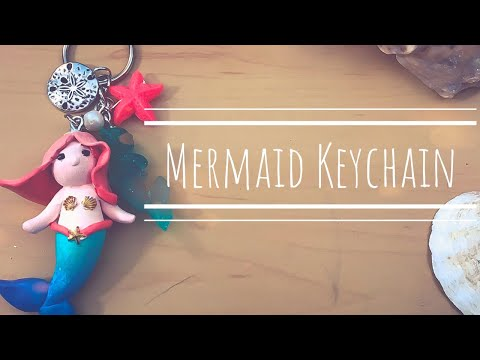 Mermaid Keychain   Polymer Clay and Resin Tutorial   Mermay day 10
