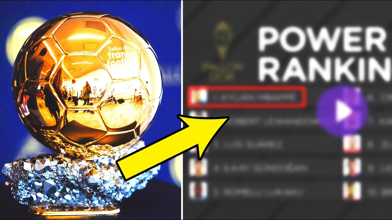 THE SHOCKING RESULTS OF THE BALLON D'OR 2021! FIRST RATING! MESSI is only ninth! Mbappe at the top!
