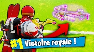 "TOP 1 AVEC ""L'ARBALÈTE"" NOUVELLE ARME ÉPIQUE DE FORTNITE ! (TOP 1 Fortnite BR)"