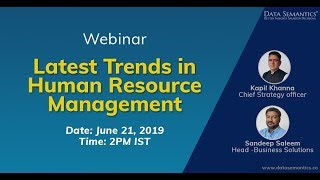 Know about the latest trends in hr management through this webinar. webinar shows how organizations are using technology to automate processes and inc...