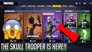 THE SKULL TROOPER IS BACK IN THE ITEM SHOP in Fortnite: Battle Royale!