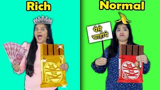 Rich Vs Normal Food Challenge | Hungry Birds
