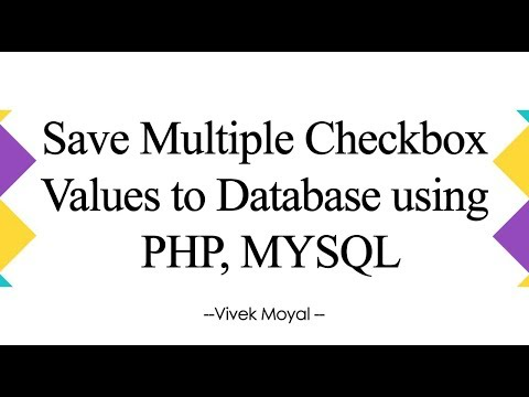 How To Save Multiple Checkbox Values In Database In PHP