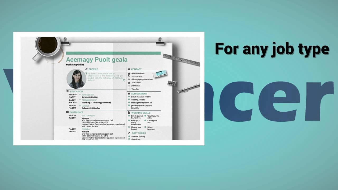 vilancer creative cv resume template