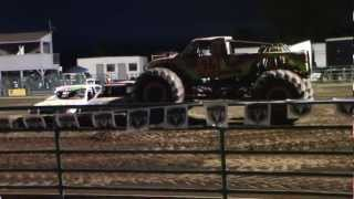 Santa Rosa California Monster Truck Flips Over.  August 05 2012  HD