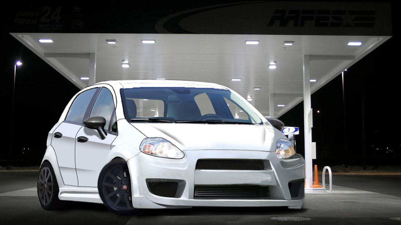 fiat grande punto 5 porte virtual tuning youtube. Black Bedroom Furniture Sets. Home Design Ideas