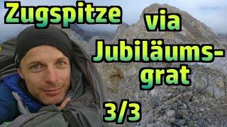 Zugspitze via Jubiläumsgrat 3/3: Gratwanderung, Schlüsselstelle, Gipfel, Nachwort, Ausrüstung #232