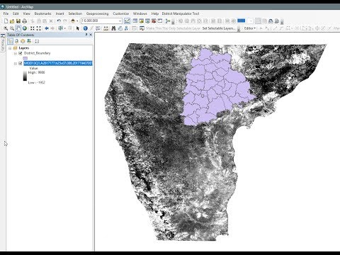 MODIS- Download MODIS (Vegetation Index NDVI) satellite data  for the state of Telangana and AP