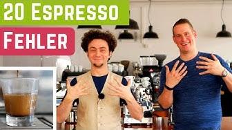 20 Fehler beim Espresso zubereiten
