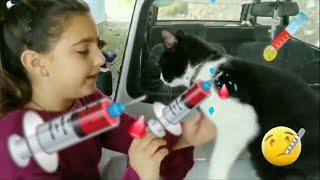 Kedi Hasta Oldu|Ata ve Ada Kocaman İğne Yaptı|Doktorculuk Oyunu|Doktorculuk|Veteriner Oyunu|