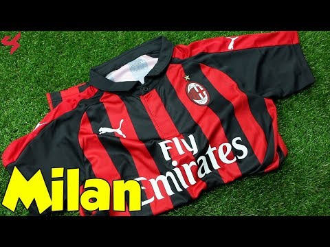 Puma AC Milan 2018/19 Home Jersey Unboxing + Review