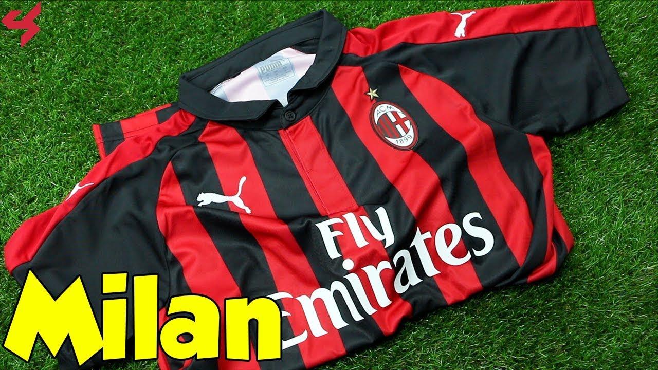 42f8cf1b1a53da Puma AC Milan 2018 19 Home Jersey Unboxing + Review - YouTube