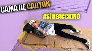 LE REGALO UNA CAMA DE CARTON *así reaccionó* (HotSpanish Vlogs)