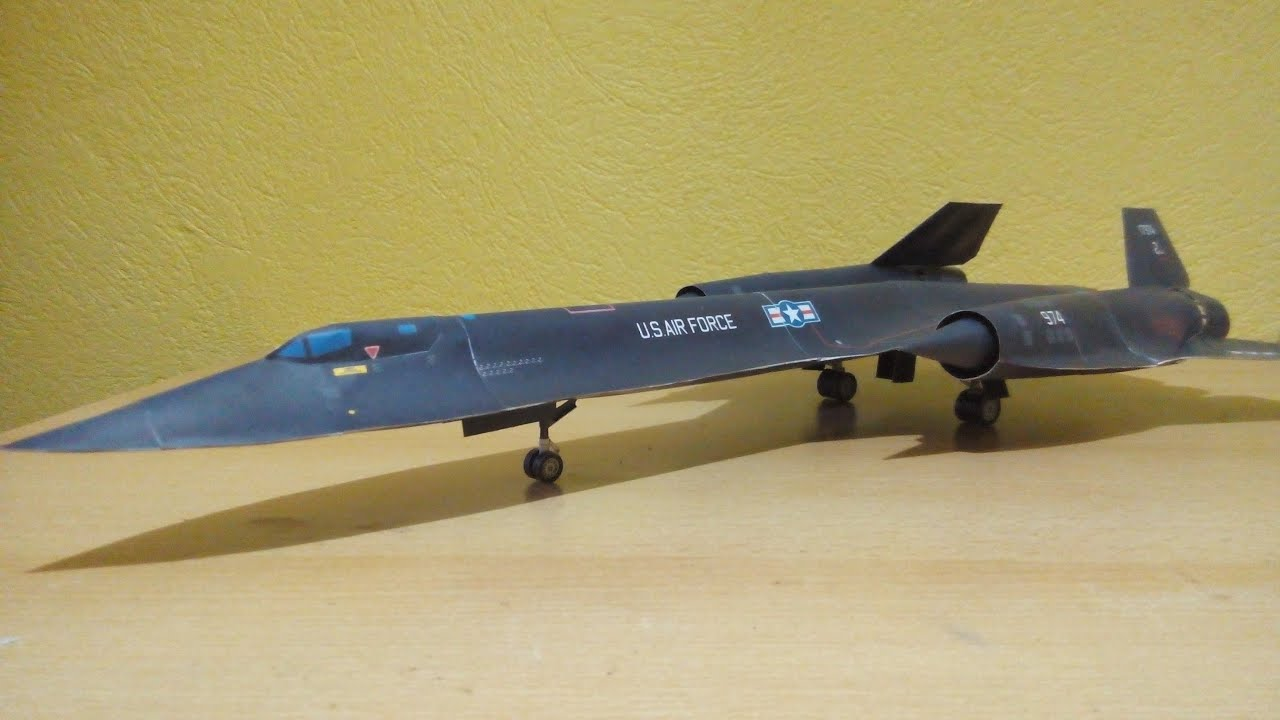Papercraft SR 71 Blackbird Papercraft