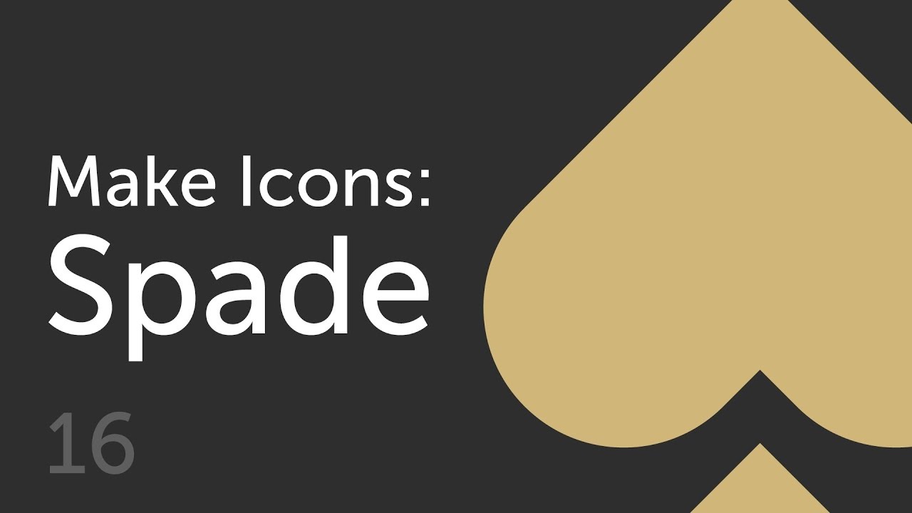 How to make a spade icon make icons 16
