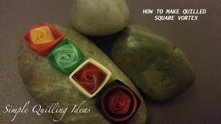 Art & Craft: How to make easy Quilled Square Vortex