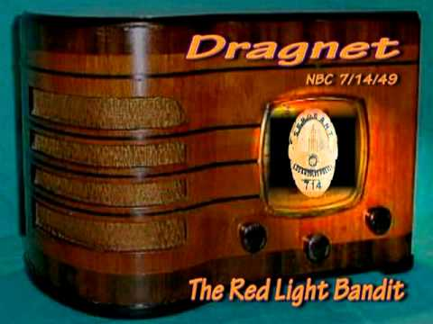 "Dragnet ""Red Light Bandit"" Jack Webb NBC 7/14/49 Radio Crime Drama"