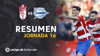 Resumen de Granada CF vs Deportivo Alavés (3-0)