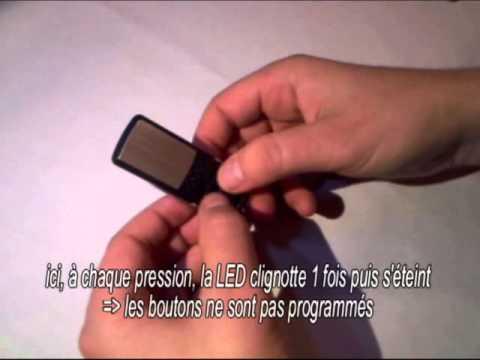 clonage t l commande code fixe 433 92 mhz youtube. Black Bedroom Furniture Sets. Home Design Ideas