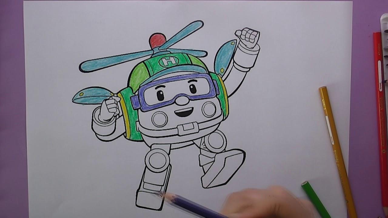 Robocar Poli Boyama Robocar Poli Nasıl Boyanır Coloring Robocar