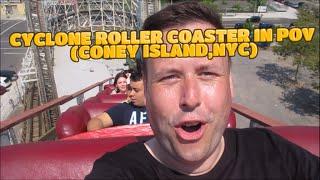 Coney Island Cyclone Roller Coaster POV - HD
