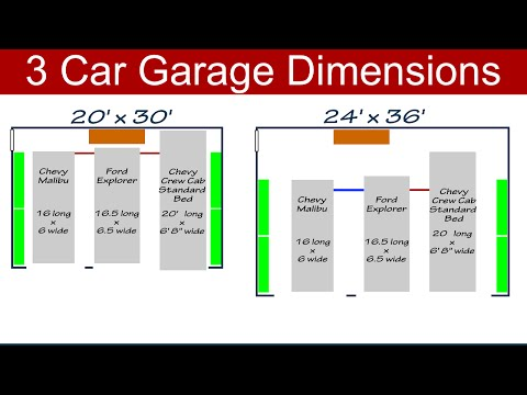 Full download download rv garage plans 24 x32 3 car garage for Size of three car garage
