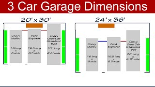 Ideal 3 Car Garage Dimensions