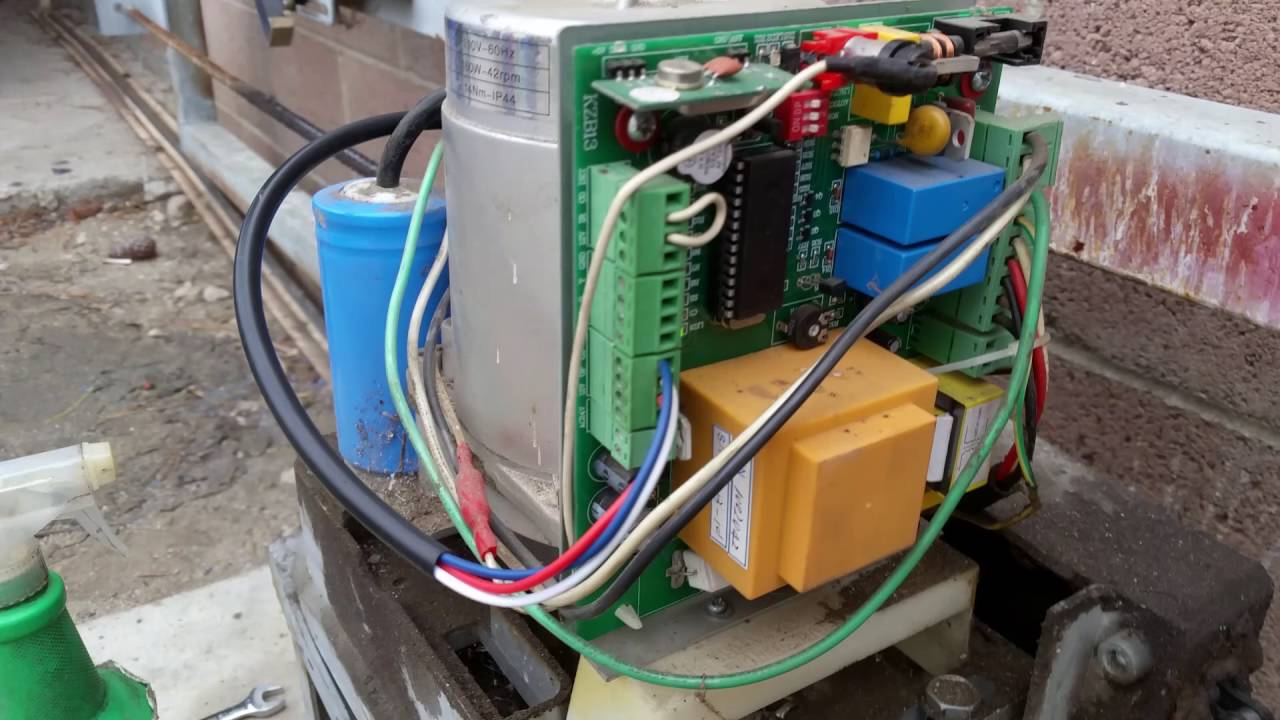 medium resolution of wiring diagram for automatic roller gate schematic wiring diagramsliding gate magnetic limit switch sensor wiring youtube