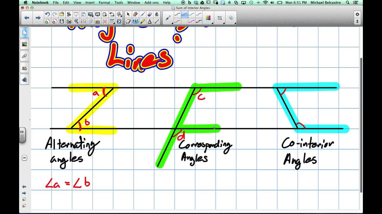 hight resolution of How to Learn Angles and Parallel Lines Grade 9 - YouTube