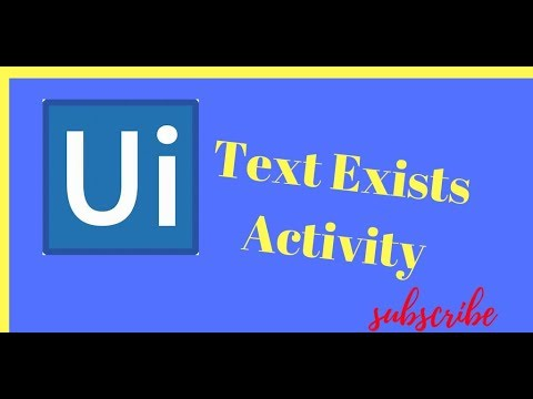 Text Exists Activity In UiPath || TextExists UiPath Tutorials For Beginners