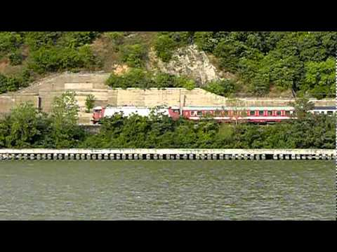 100818 CFR Calatori T.Severin - Orsova,Passanger train from Danube Canyon