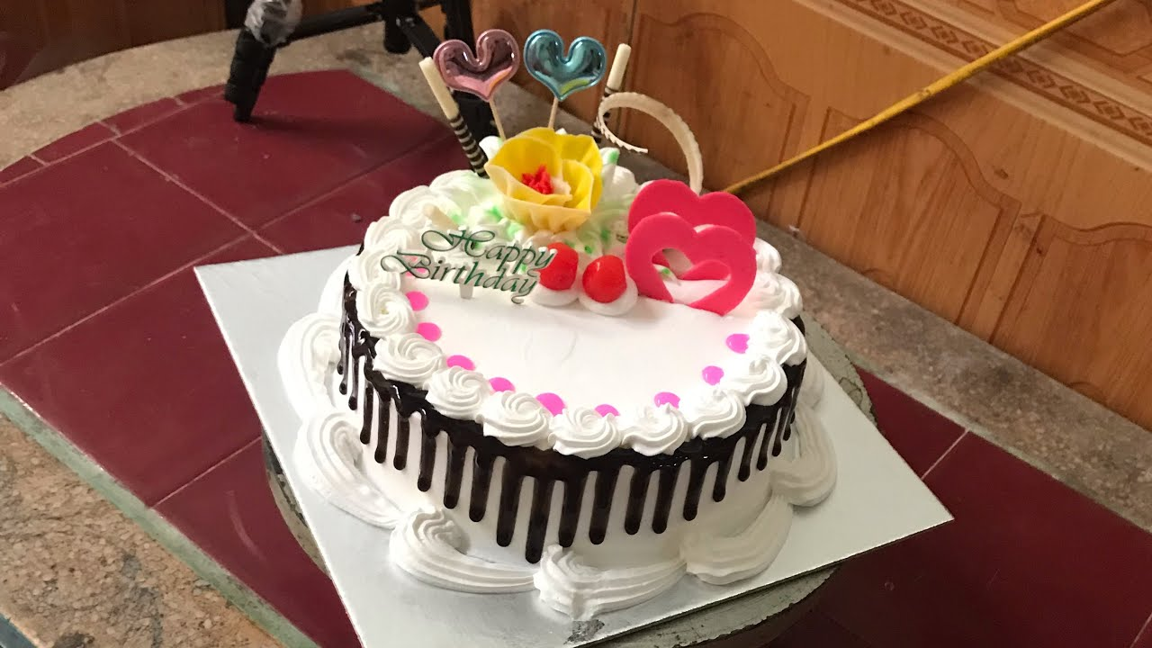 Birthday Cake Making At Home