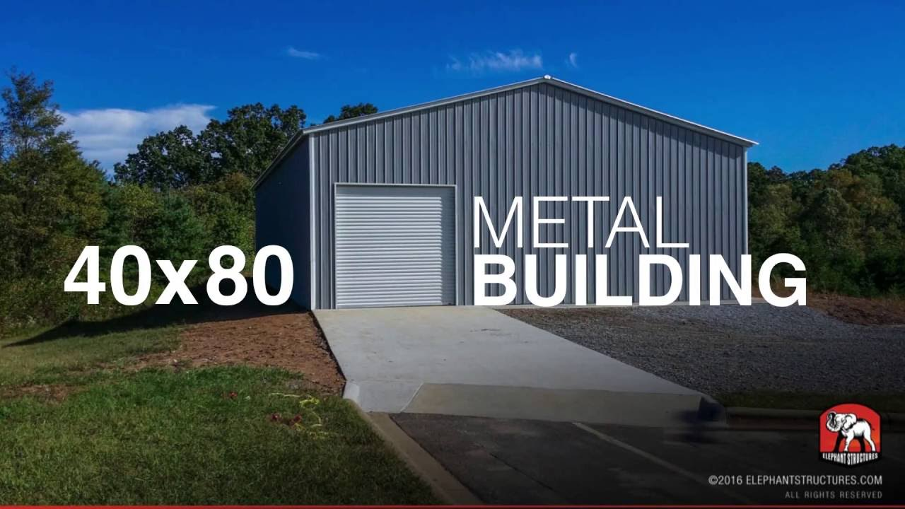 40x80 metal building id29148 youtube