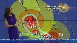 Tracking Hurricane Irma 09/09/17 2AM