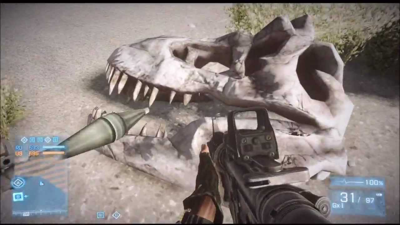 Battlefield 3 end game dlc t rex skull location youtube for T rex location