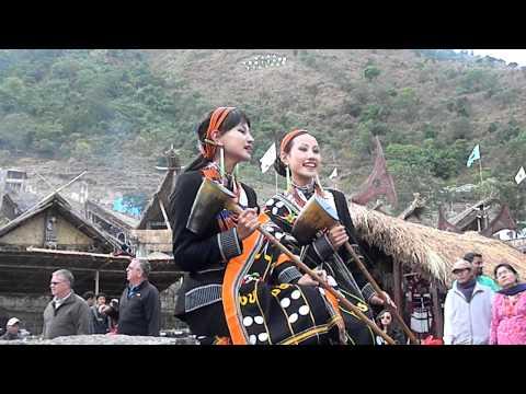 Tetseo sisters at the Hornbill festival Nagaland