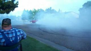 1968 Pontiac Firebird burnout July 4th 2011