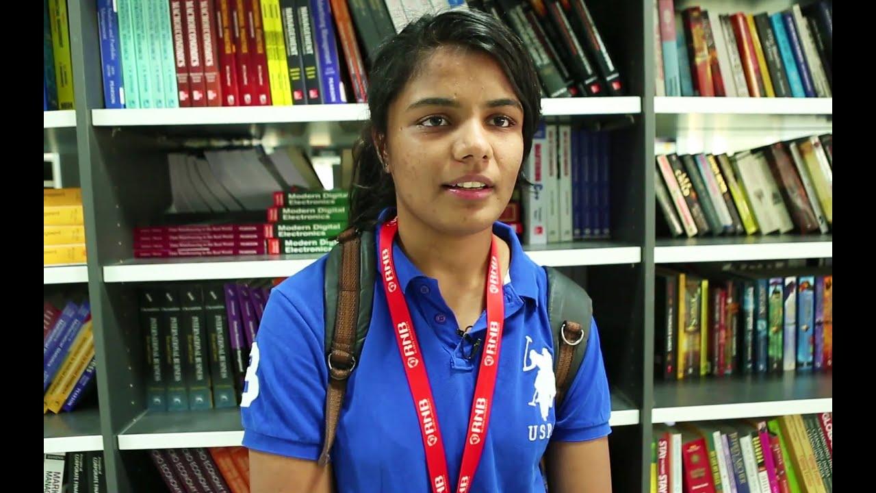 Megha - Student Speaks up for RNBGU, Best B-School in Rajasthan India