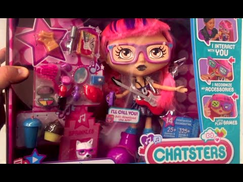 CHATSTERS Pop Star Gabby Interactive Doll Gabby with Puppy, Makeup and Accessories