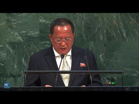 North Korean FM defends nuclear program at UN General Assembly