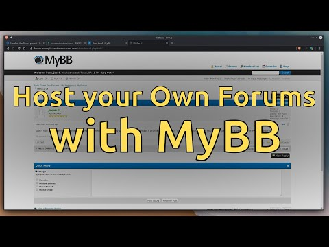 Host Your Own Forums With MyBB