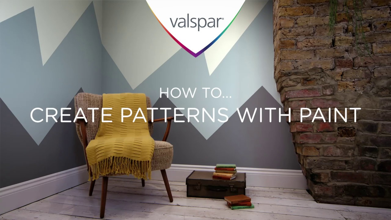How to create patterns with paint - Mountains - Valspar Paint