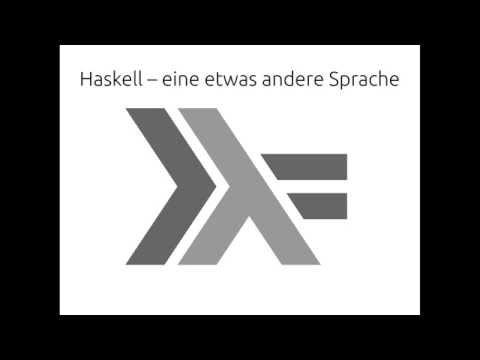 Robert Clausecker beschreibt Haskell in 20min auf der Ubucon