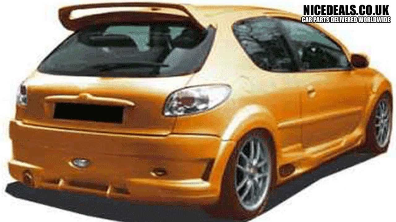 peugeot 206 sports rear bumpers, body kits - youtube