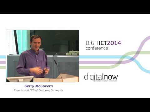 Gerry McGovern at ICT 2014: Digital Now!