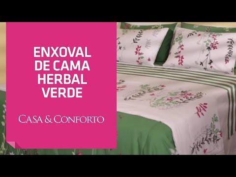 Enxoval de Cama Herbal Casa & Conforto | Shoptime