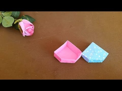 How to make an Origami Diamond Jewelry Box / Treasure Box | DIY paper crafts